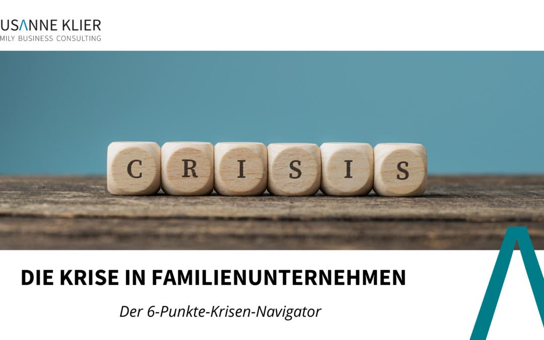 Die Krise in Familienunternehmen
